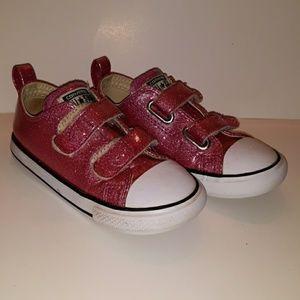 Converse pink glittery girls size 9